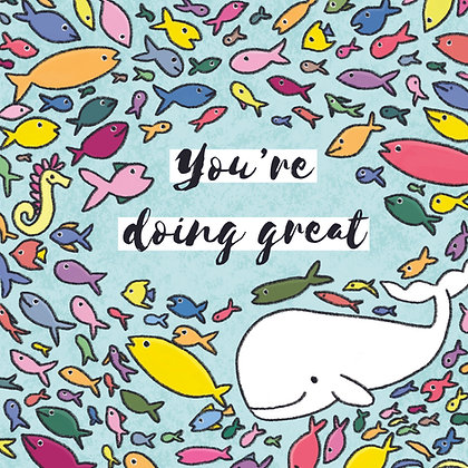 'You're doing great' Postcard