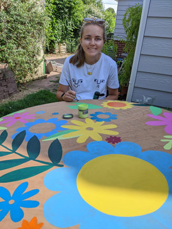May painting garden mural