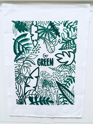 Go green tea-towel