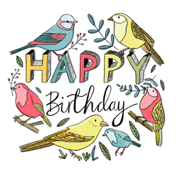 Happy Birthday birds