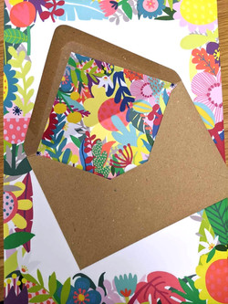 Commissioned writing set, letter paper and printed envelopes