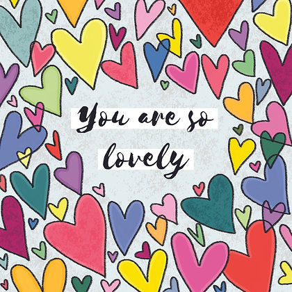 'You are so lovely' Postcard
