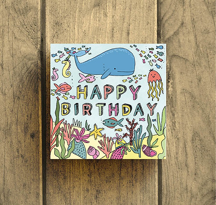Happy Birthday under the sea