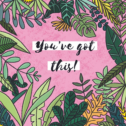 'You've got this' Postcard