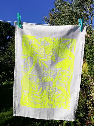 Seconds quality yellow tea-towel