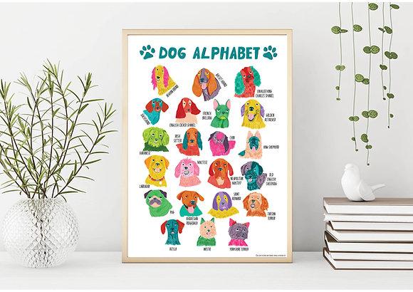 DOG ALPHABET A3