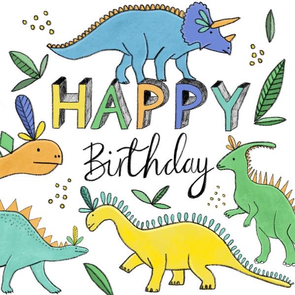 Dinosaur Happy Birthday