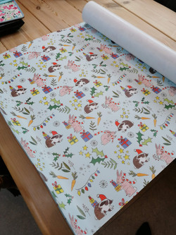 commissioned wrapping paper
