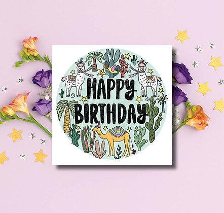 Happy Birthday cactus