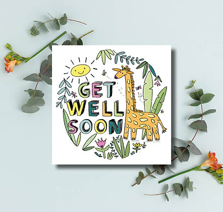 Get well soon giraffe