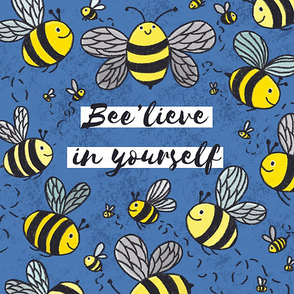 'Bee'lieve in yourself' Postcard