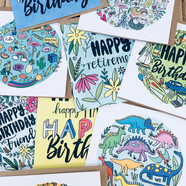 collection of greetings cards