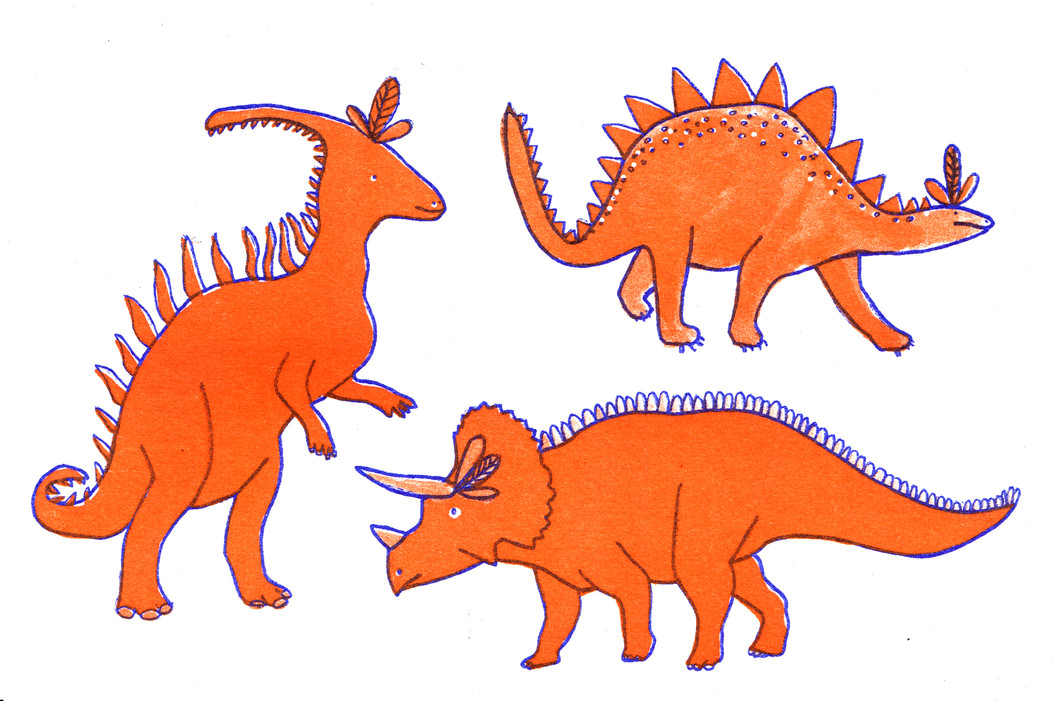 Dinosaur risograph