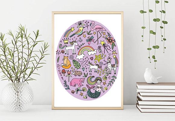 Mystical poster print-A3