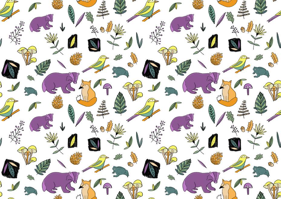 Woodland repeat pattern