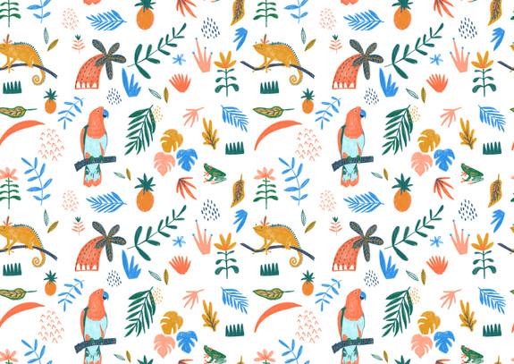 Tropical repeat pattern