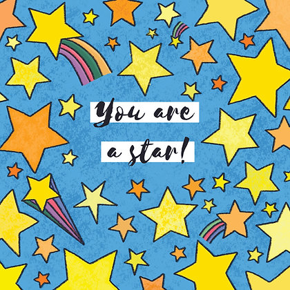 'You are a star!' Postcard
