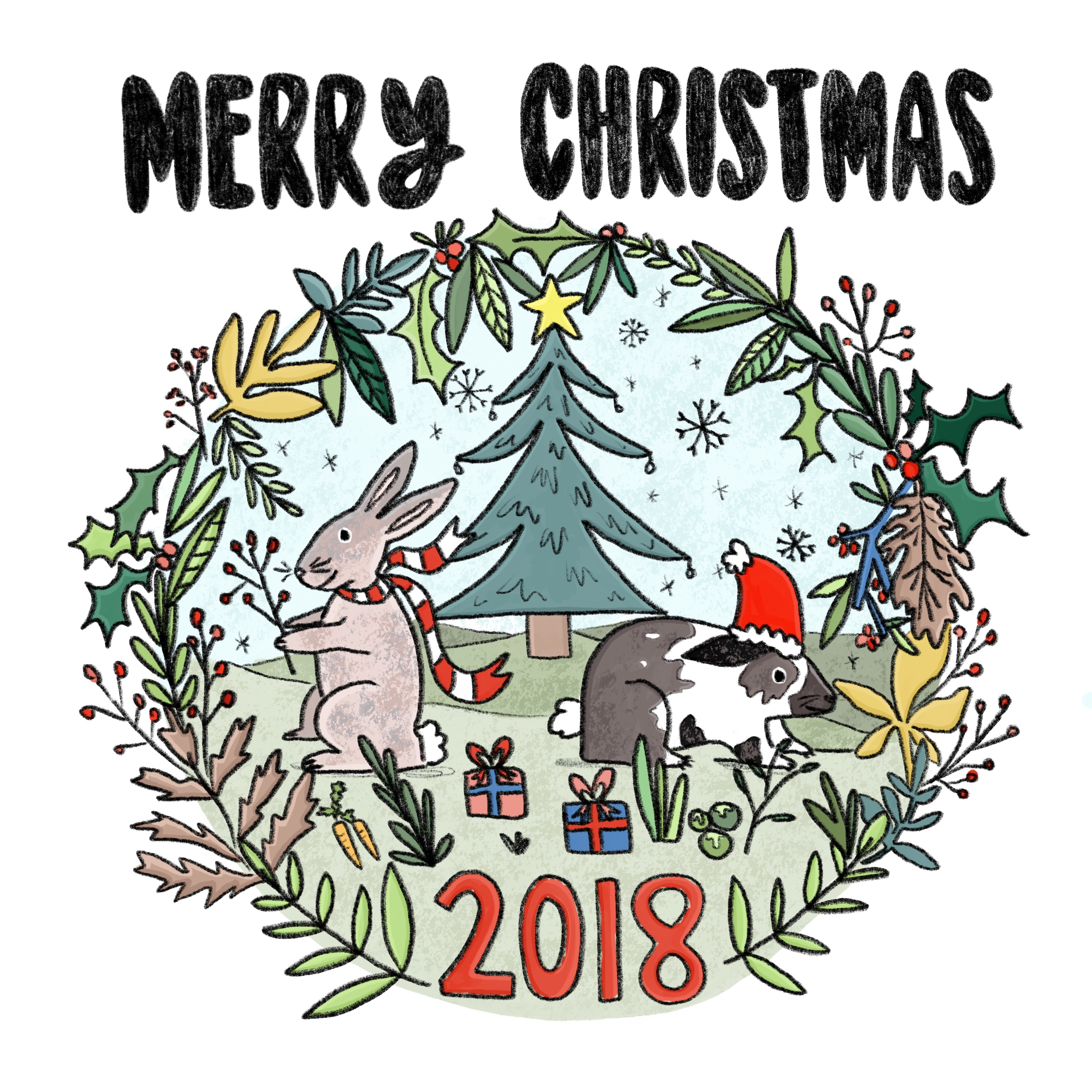 Commissioned Christmas card design