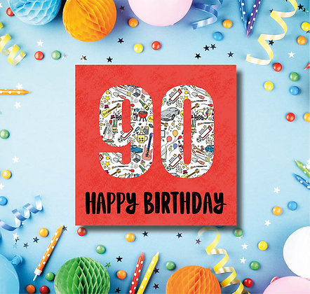 90 Happy Birthday