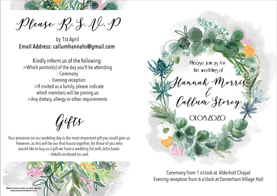 Wedding invitation design front