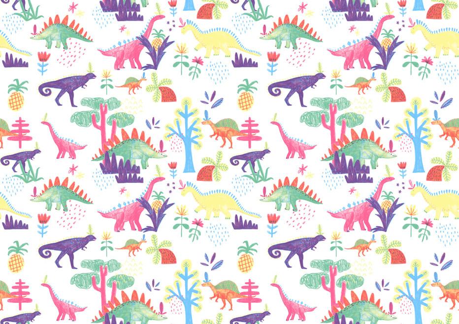 Dinosaur repeat pattern