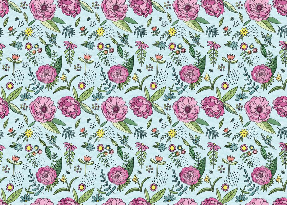 Flower repeat pattern