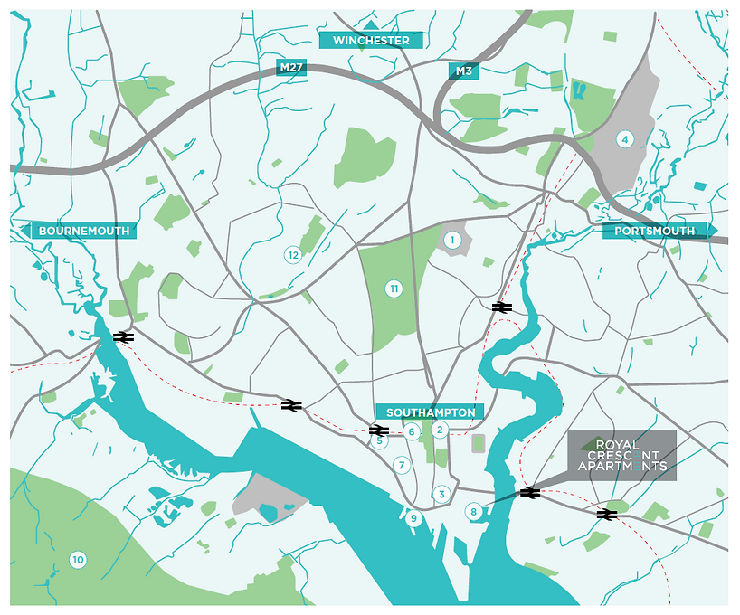 Southampton Map POIs