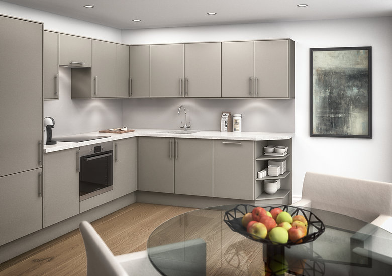 Kitchen CGI Southampton Royal Crescent Apartments