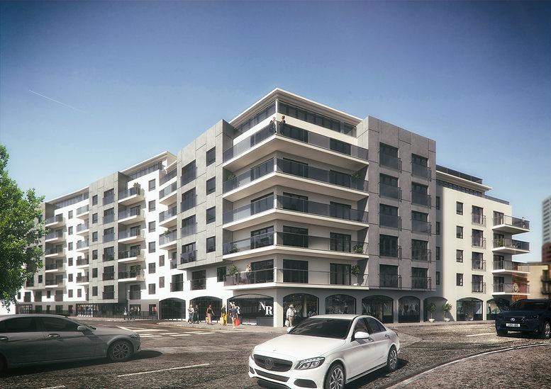 Exterior CGI Southampton Royal Crescent Apartments