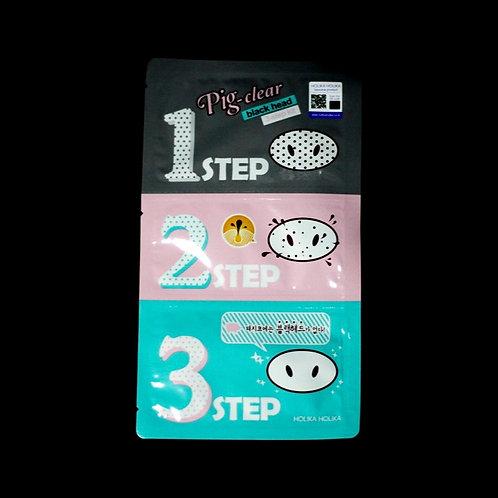 Pig Clear Black Head 3-Step Kit [Holika Holika]