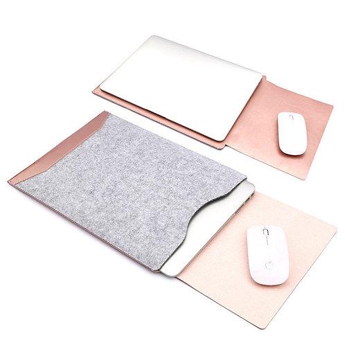 "Waterproof Slim Felt PU Sleeve Laptop Case Cover Bag Protect for MacBook Pro 13"""