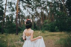 Mariée dans les bois