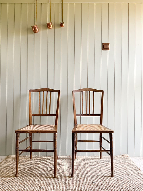 Set of two Vintage Cane chairs