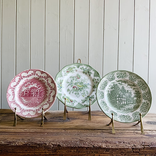 English Ironstone Tableware Small Plate - Picture Of Wakehurst Place Sussex