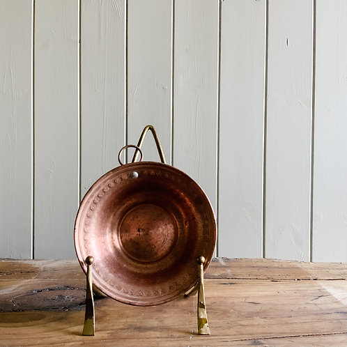 Copper Bowl with gold hanger