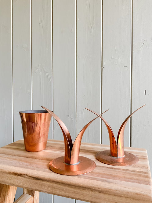 Repro of The Lily Candlestickin Copper (x2)