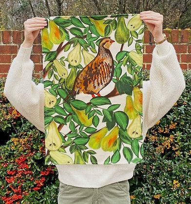 Tea Towel | Partridge In A Pear Tree