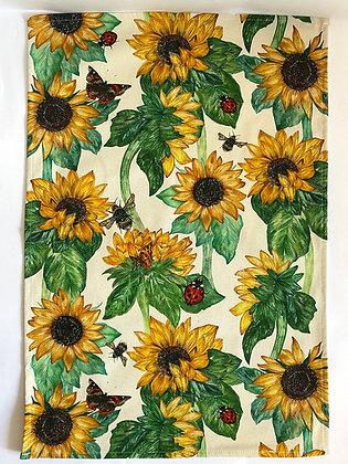 Tea Towel   Sunflowers