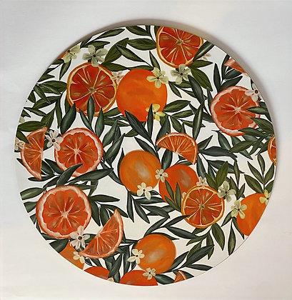 Placemats Orange Set Of Four