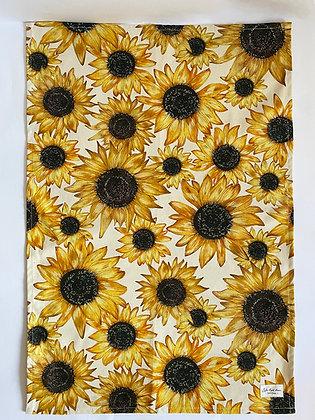 Tea Towel |  Plain Sunflowers