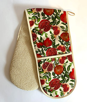 Double Oven Gloves | Pomegranate