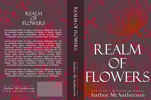 Realm of Flowers PreMade Book Cover Design