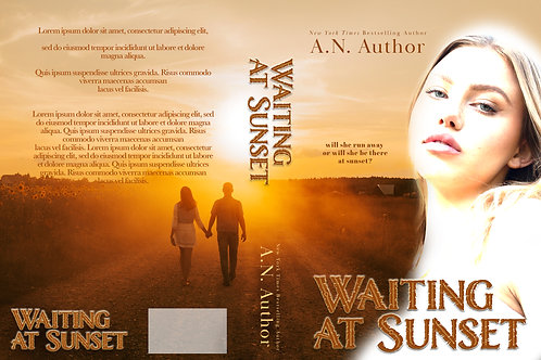 Waiting At Sunset PreMade Book Design