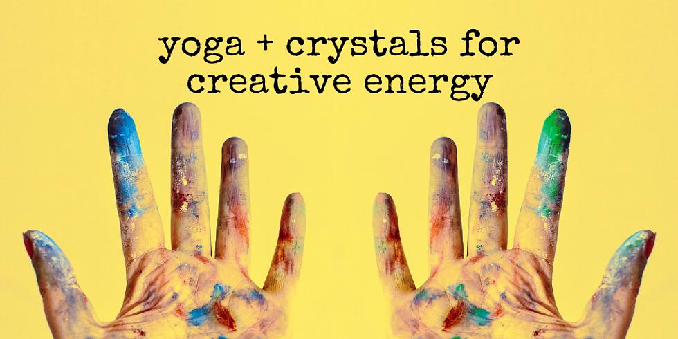Yoga + Crystals for Creative Energy