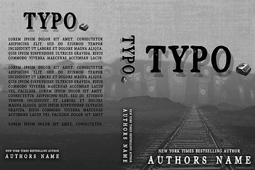 Typo PreMade Book Cover Design