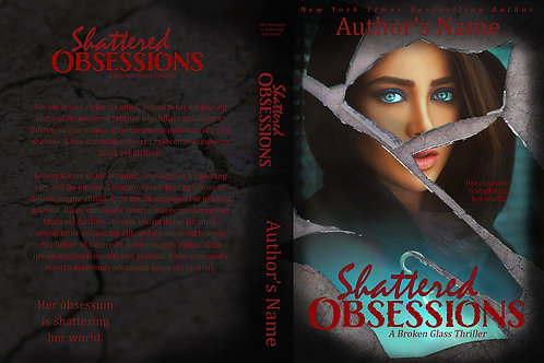 Shattered Obsessions PreMade Book Cover Design