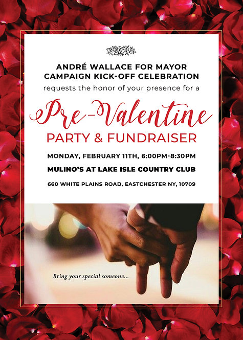 Pre-Valentine Party & Fundraiser GOLD