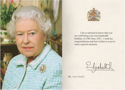 100th Birthday card from The Queen.jpg