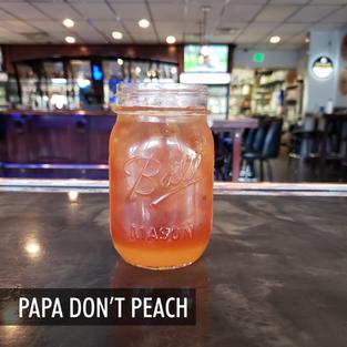 Bulleit, Peach Purée, Sweet Lipton Tea