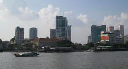 サイゴン川と中心市街地